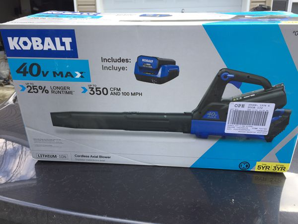 Leaf blower 40v max NEW