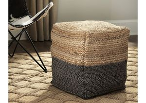 NEW IN THE BOX. SWEED VALLEY NATURAL/BLACK POUF, SKU# A1000422NV for Sale in Santa Ana, CA