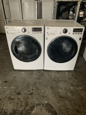 Set washer and dryer brand LG gas dryer everything is good working condition 90 days warranty delivery and installation for Sale in San Leandro, CA