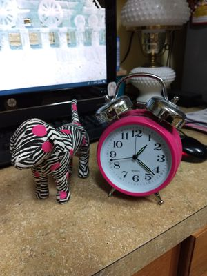 Victoria secret's Pink dog and pink alarm clock for Sale in Land O Lakes, FL