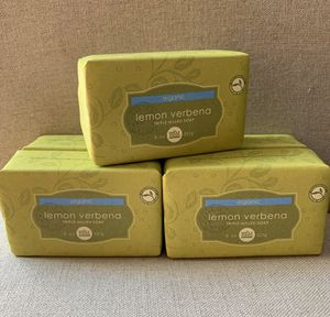 """New- TRIPLE MILLED LEMON VERBENA ORGANIC BAR SOAP/Scented With Pure Essential Oils By WHOLE FOODS MARKET 8 oz """"LUXURIOUS LATHER & Elegantly Wrapped"""" for Sale in Calimesa, CA"""
