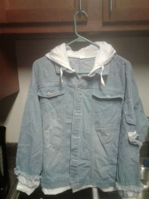 Bluejean shirt .with a cotton hood. for Sale in Centralia, WV
