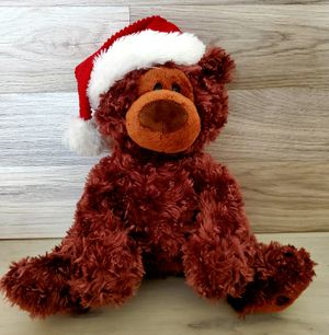 "GUND Philbin Santa Hat Chocolate Brown 14"" Teddy Bear for Sale in VLG WELLINGTN, FL"