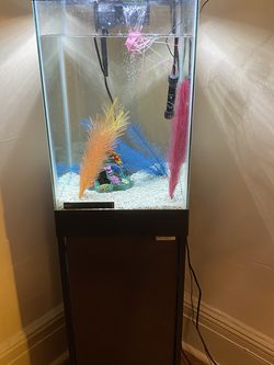 15 Gallon Vertical Fish Tank w/ Stand and Complete Supplies for Sale in Weehawken,  NJ