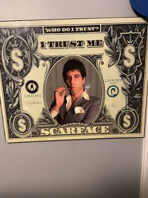 Beyond The Wall Scarface Money Cult Classic Crime Drama Action Movie Film Poster Print 11 by 17 for Sale in La Vergne, TN