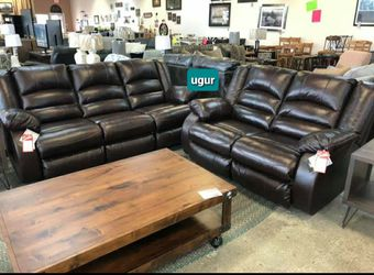 $39 Down payment 💥Vacherie Chocolate Reclining Living Room Set byAshley 💥Sofa & Loveseat💯In Stock for Sale in Wilmington,  DE