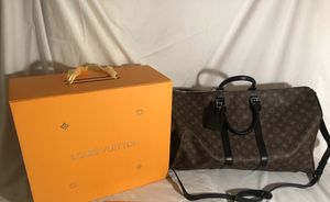 Louis Vuitton Monogram Keepall 55 Macassar Duffle Bag for Sale in Rockville, MD