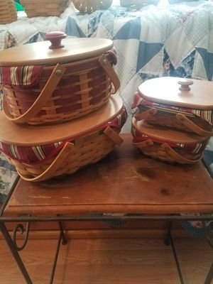 Longaberger Basket Set for Sale in Gibsonton, FL