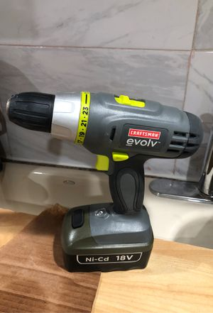 Craftsman evolve hammer drill driver with battery does not hold a charge. Charger included for Sale in Dearborn, MI