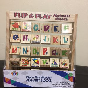 Flip N Play Alphabet Blocks for Sale in Stone Mountain, GA