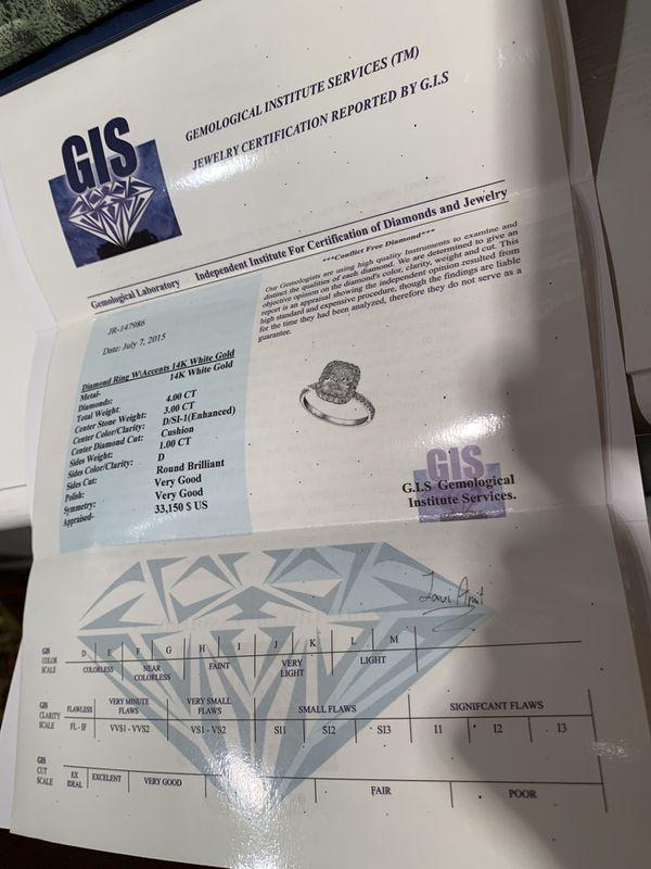 4 carat diamond halo engagement ring