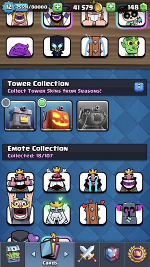 Clash royal level 12 all cards can be upgraded to 11 or up for Sale in Burien, WA