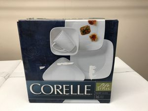 New Corelle Square Dinnerware Set Vivid White 15 Pieces for Sale in Wake Forest, NC