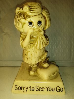 "R & W BERRIES ""Sorry to See You Go"" COLLECTIBLE STATUE for Sale in Charlotte, NC"
