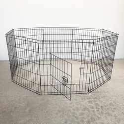 """$30 (new in box) 8-panel dog playpen, each panel 24"""" tall x 24"""" wide pet exercise fence crate kennel gate for Sale in Pico Rivera,  CA"""