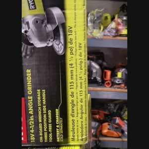 RYOBI 18V CORDLESS ANGLE GRINDER TOOL ONLY BRAND NEW for Sale in San Bernardino, CA
