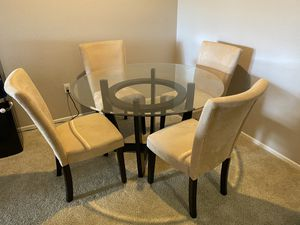 Glass Dining table set for Sale in Rancho Cucamonga, CA