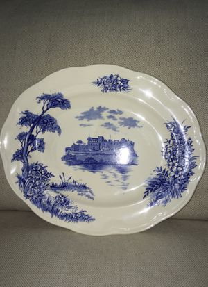 British Anchor Antique Blue and White Platter for Sale in Tampa, FL