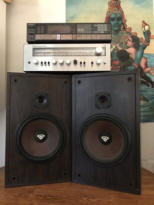 Vintage Cerwin Vega wooden speakers, Sony stereo receiver, Modular component systems for Sale in Long Beach, CA