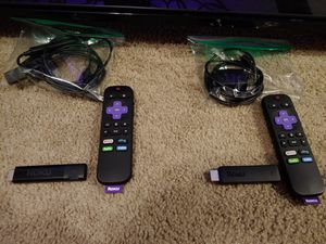 1 Roku stick and 1 Roku stick 4k HDR for Sale in San Antonio, TX
