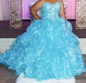 Size 14 Sky blue Quinceanera Dress for Sale in BVL, FL