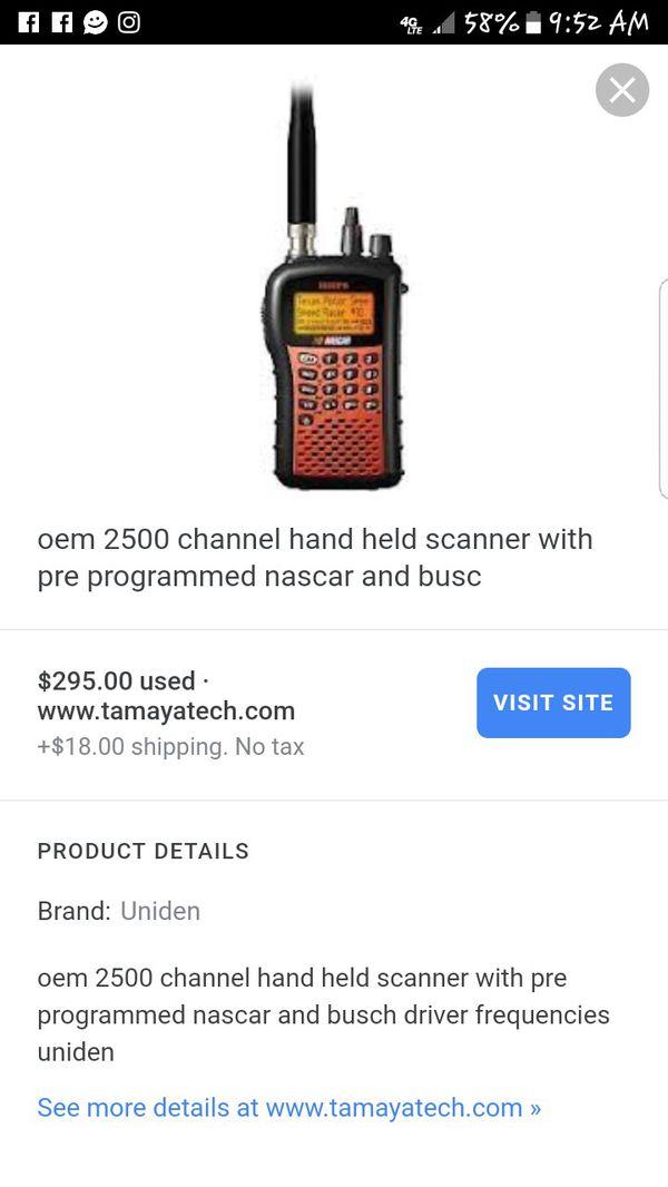 Uniden Nascar scanner & walkie talkie for Sale in Las Vegas, NV - OfferUp