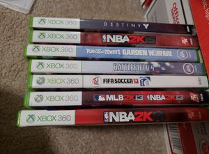 Xbox 360 games madden NBA 2K, plants vs zombies, battlefield 4, fifa for Sale in Grapevine, TX