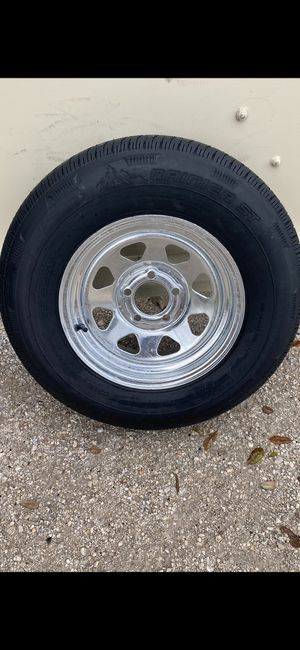 New205-75-14inch trailer tire and rim. $85/each for Sale in Fort Lauderdale, FL