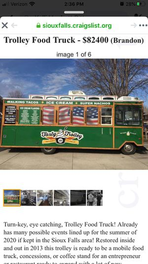 Trolley food truck/ice cream truck for Sale in Corson, SD