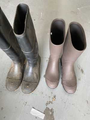Boots, Rubber, Men's, 2 pairs for Sale in Palm Harbor, FL