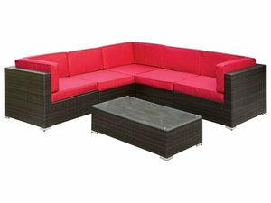 RED PATIO SECTIONAL SOFA COUCH + COFFEE TABLE for Sale in San Diego, CA
