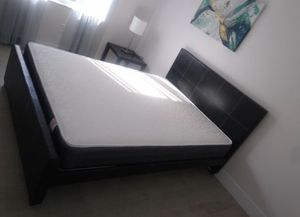 Queen size bed frame new in the box with the mattresses and free shipping for Sale in Hialeah, FL