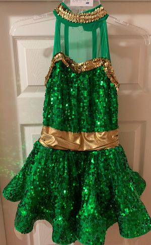 green and gold dance costume for Sale in Chesterfield, MO