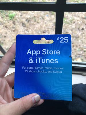 25 dollar ITunes card for Sale in North Little Rock, AR