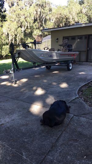 16ft hawk fisher aluminum bass boat for Sale in Orlando, FL