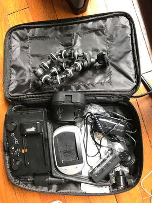 DSLR light kit w gorilla arm / mini tripod for Sale in Austin, TX