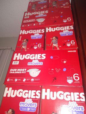 HUGGIES LITTLE MOVERS SIZE 4 5 6 $33 CADA 1 CAJA PRECIO FIRME RRECOJER EN SANTA ANA CA NO ADOMISILIO 👁️👀👁️ for Sale in Santa Ana, CA