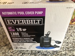 New in the box automatic Pool cover pump for Sale in Etna, OH
