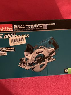 Makita. 18V X2 LXT Lithium-Ion (36V) Brushless Cordless Rear Handle 7-1/4 in. Circular Saw (Tool-Only). XSR01Z. for Sale in Brooklyn,  NY