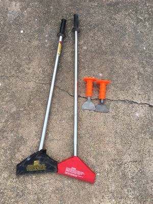 Pair of floor scrapers and pair of heavy duty hand chisels for Sale in Alexandria, VA