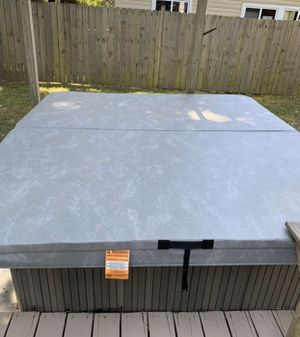 Hot Tub Cover (Please Note, The Lighter Parts Is The Sun Shinning On It) for Sale in Virginia Beach, VA