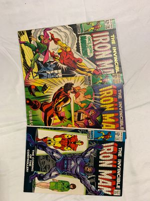 12cent Iron Man comics #10 #11 #12 Year1968 for Sale in Johnston City, IL