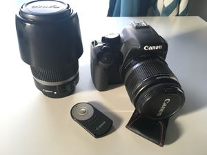 Canon T1i includes 2 lenses and a remote for Sale in Houston, TX