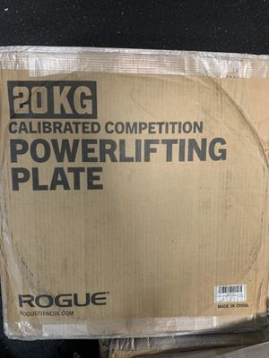 Brand new PAIR (2) of 20kg Rogue Fitness Calibrated Steel Weight Plates for Sale in Portland, OR