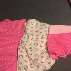 Hello Kitty Crib Sheets and Skirt for Sale in Los Angeles,  CA