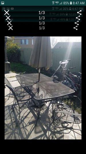 Heavy high quality Iron patio set 8 pieces no umbrella was originally over $2300 for Sale in Tracy, CA
