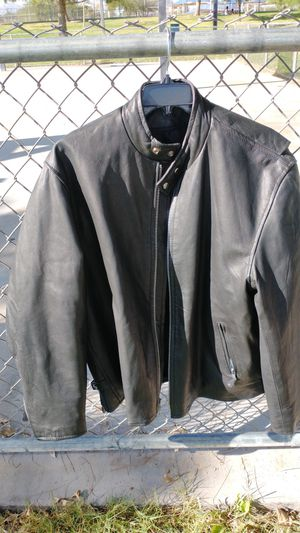 Leather motorcycle jacket by hudson for Sale in Las Vegas, NV