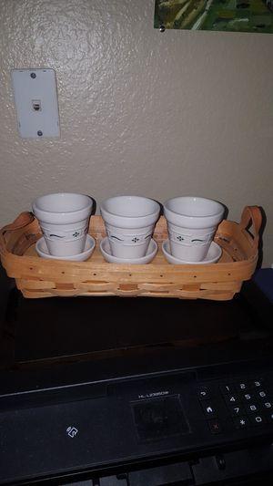 """Longaberger Basket """"Small Flower Pot"""" for Sale in North Highlands, CA"""