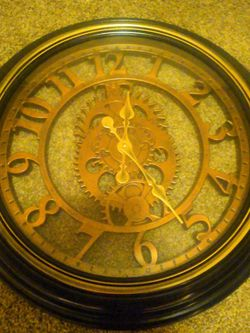 20 Inch Gear Style Wall Clock for Sale in Lynnwood,  WA
