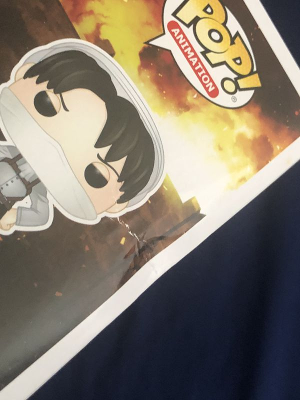 Funko Pop Attack on Titan Cleaning Levi Hot Topic